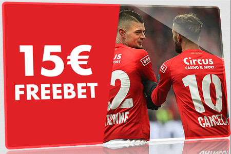 15 € de Freebet sur la Jupiler Pro League ce week end