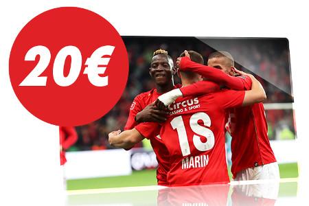 20 € de pari sans risque pour le match Standard x Genk