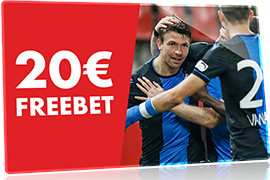 Freebet si le FC Bruges marque face à Manchester United