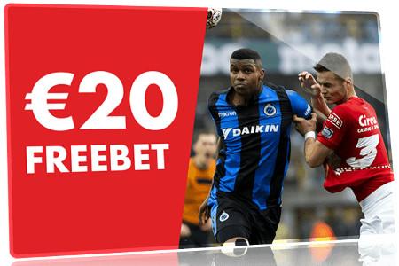 20 € de Freebet sur FC Bruges  x Standard de Liège