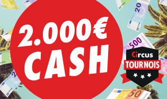 2.000 € en cash offerts en juin au Casino Circus.be