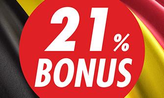 21% de bonus pour la Fête nationale