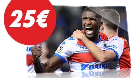 Charleroi x Bruges : 25 € de freebet à gagner en pariant sur Circus.be
