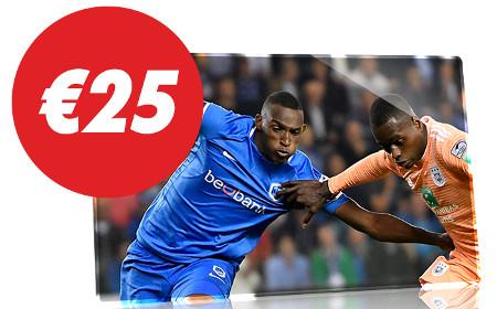 Anderlecht x Genk : Pariez 25 € et recevez 25 € de paris gratuits