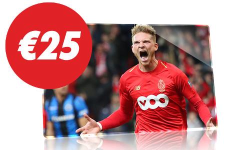 Gagnez un pari gratuit de 25 € en pariant sur Bruges x Standard de Liège