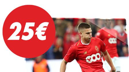 25 euros de pari gratuit à gagner en pariant sur Zulte x Standard de Liège