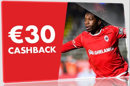 30 € de cashback sur Antwerp x Anderlecht