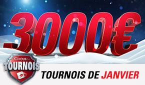 3.000 € de cash à gagner sur Circus en janvier