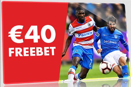 40 € de freebet à gagner sur Bruges x Genk
