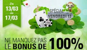 Vendredi 13 porte chance sur Circus avec un bonus de 100 %