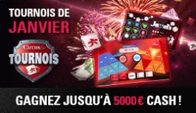 5.000 € à gagner lors du tournoi mensuel de janvier dans le casino Circus
