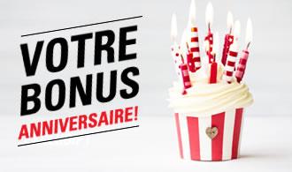 Bonus de 500 € pour votre anniversaire sur circus.be