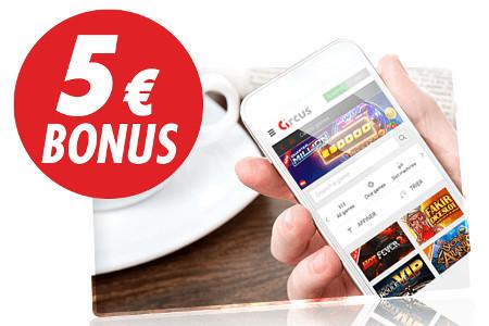 Bonus SMS du casino Circus : 5 € en validant votre numéro de téléphone