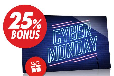 25% de bonus pour ce Cyber Monday du casino Circus.be