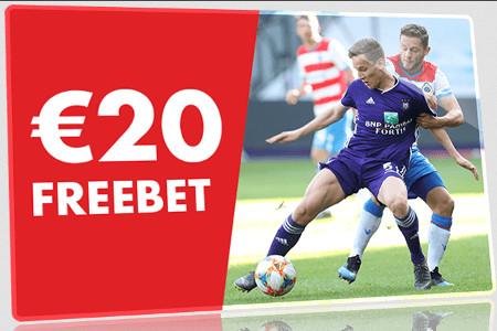 Freebet de 20 € en misant sur Anderlecht x Bruges