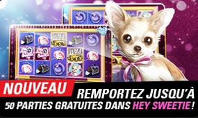 50 parties offertes sur Hey Sweetie