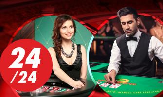 Retrouvez l'ambiance des casinos Circus en ligne 24h / 24