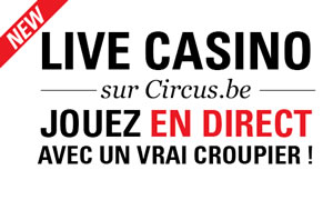 Circus.be lance son live casino avec croupier en direct