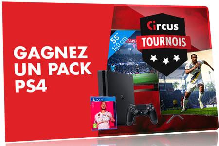 Un pack PS4 Pro 4K à gagner sur les tournois Circus