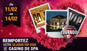 Séjour VIP au casino de SPA grâce à circus.be pour la Saint Valentin