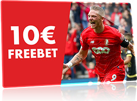 10 € de Freebet pour le match Standard x Arsenal