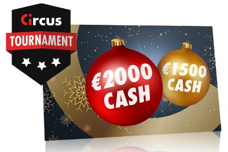 Gagnez du cash pendant les tournois de décembre du casino Circus