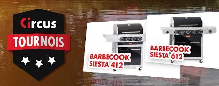 Tournois mensuels Circus: Gagnez un Barbecook  Siesta pour l'été