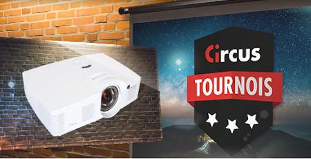 Gagnez un vidéoprojecteur et un écran Elite avec les tournois du casino  Circus