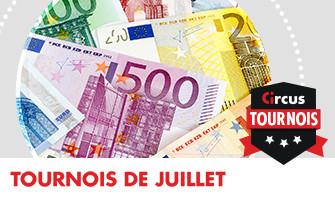 Du cash et des bonus ce mois-ci lors des tournois Circus.be