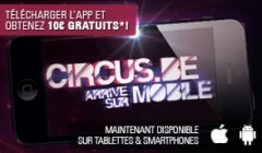 Application mobile du casino Circus.be disponible, 10 € de bonus
