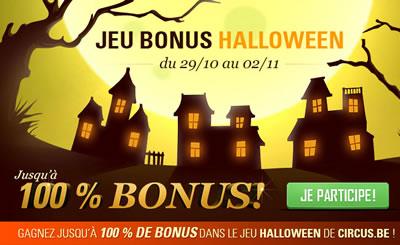 Divers bonus vous attendent sur circus.be pour fêter Halloween