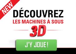 Machines à sous 3D au casino Circus.be