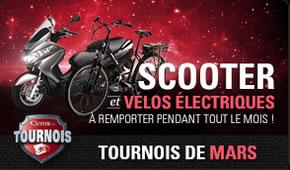 Un scooter et un vélo électrique à remporter en mars sur circus.be