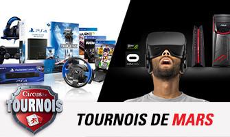 Circus vous offre un casque Oculus Rift et un pach PS4 en mars