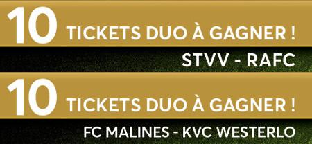 Gagnez des tickets pour assister aux matchs du STVV et du FC Malines
