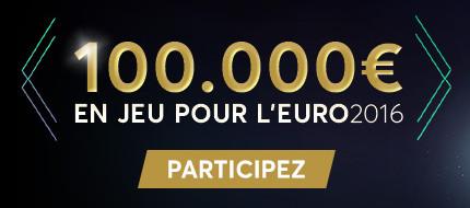 Euro 2016 : Jusqu'à 100 000 euros à se partager sur goldenpalace.be