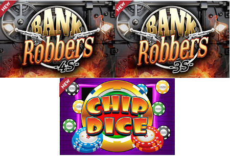 Bank Robbers 4S, Bank Robbers 3S et Chip Dice sur Golden Palace