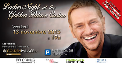 Ladies Night au Golden Palace Casino Hornu le vendredi 13 novembre