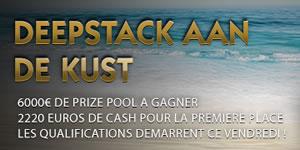 Qualifiez vous en ligne sur GoldenPalace.be pour le Deepstack aan de Kust