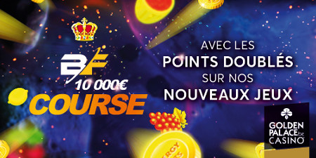 Une course à 10.000 euros sur GoldenPalace.be