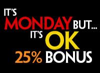 Bonus de 25% sur dépôt du 11 novembre sur krooncasino.be