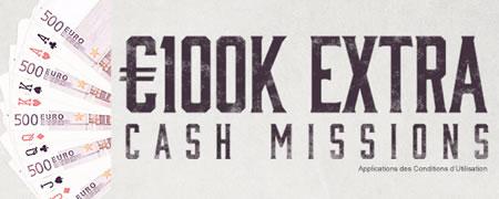 100.0000 € d'Extra cash Missions sur Ladbrokes Poker
