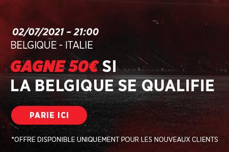 Belgique - Italie: 50 € si les Diables rouges se qualifient avec Ladbrokes
