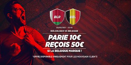 Biélorussie x Belgique: 50 euros si les Diables  rouges marquent avec Ladbrokes
