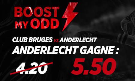 Club Bruges x Anderlecht: Cote boostée avec Ladbrokes