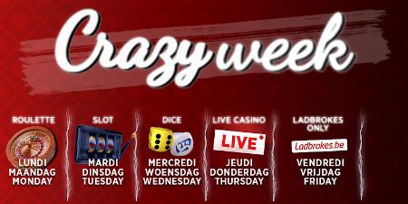 Crazy Week: Une surprise par jour vous attend  sur le casino Ladbrokes