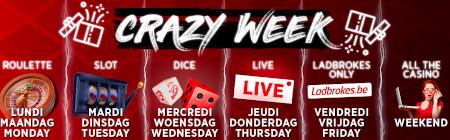 Crazy Week: Une surprise par jour sur le casino Ladbrokes