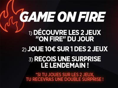 Game On Fire: Jouez sur les jeux éligibles et  recevez une surprise avec Ladbrokes
