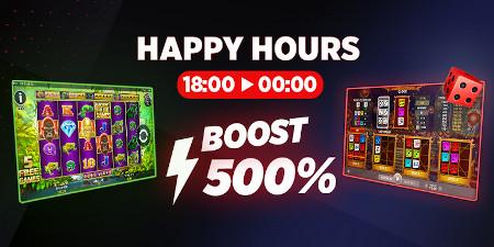 Happy Hours: 500 % de gains en plus sur le casino Ladbrokes
