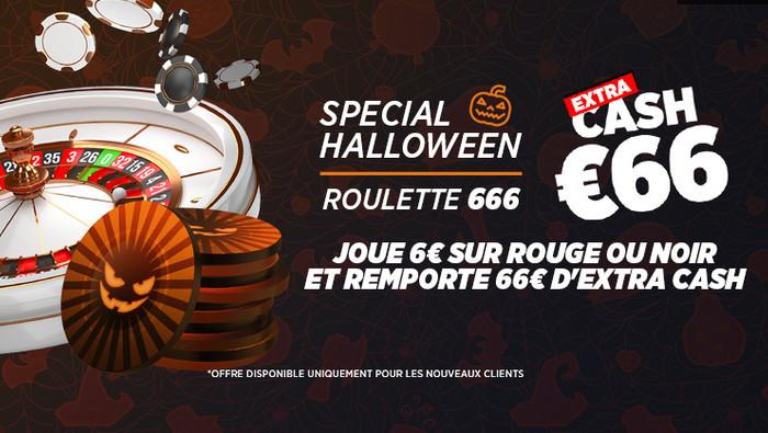 Roulette 666: 66 euros d'extra à gagner avec  Ladbrokes